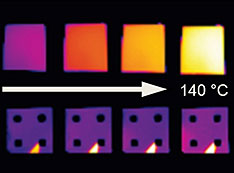 thermal images of samples
