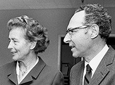Photo of Gertrude Scharff-Goldhaber and Maurice Goldhaber