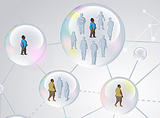 Social bubbles graphic