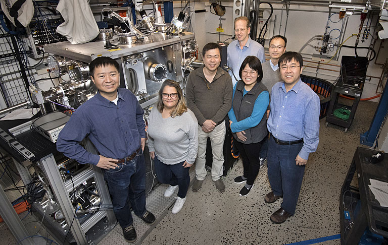 Scientists at NSLS-II's Hard X-ray Nanoprobe (HXN)