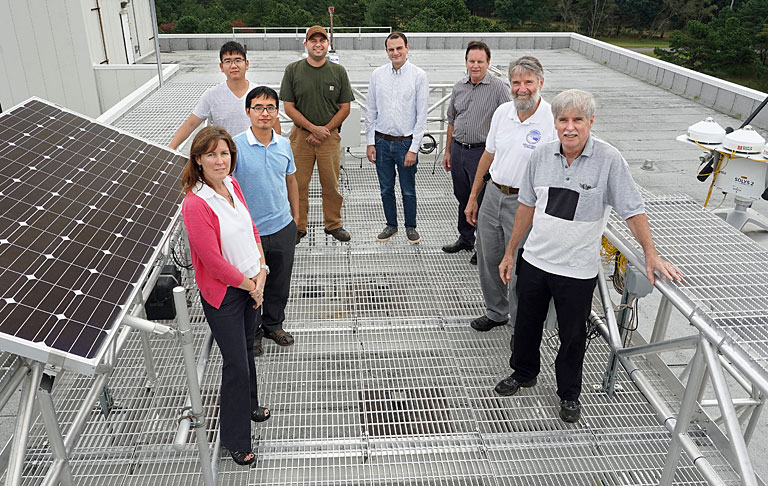 Part of the team that contributed to the development of Brookhaven Lab's solar base station
