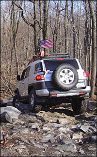 Photo of FJ Cruiser on the trail