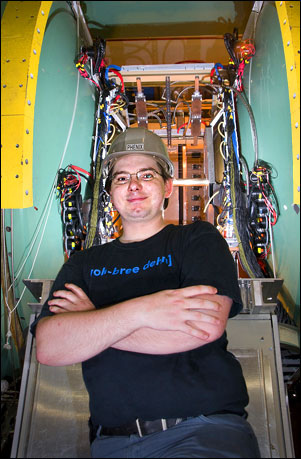 Photo of Chvala at the PHENIX detector