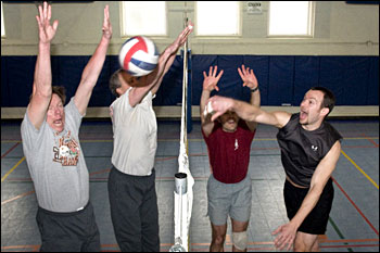 Photo of volleyball players