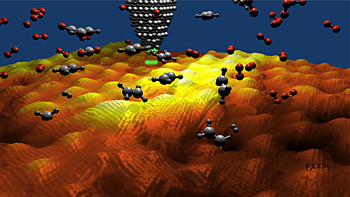 Dancing Molecules on Graphene
