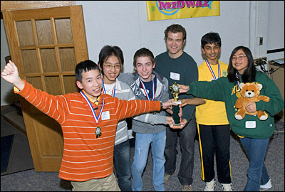 Photo of Middle School Math Tournament winners