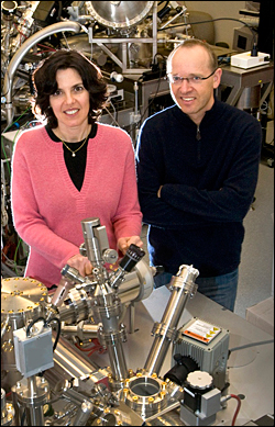 CFN scientists Eli Sutter (left) and Peter Sutter
