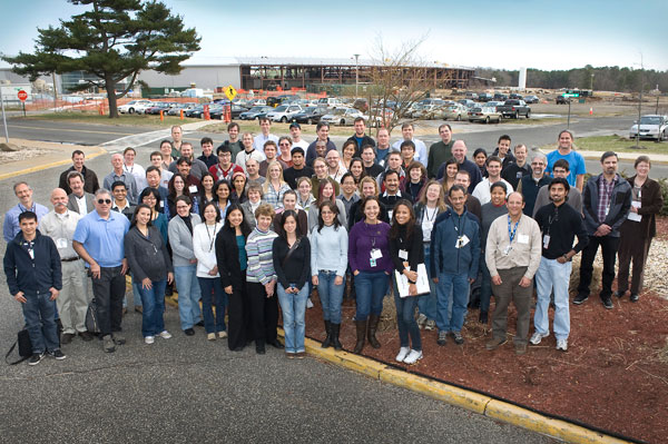 RapiData participants in front of the NSLS-II construction site
