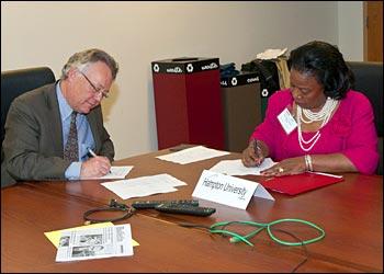 Doon Gibbs signs a memorandum of understanding