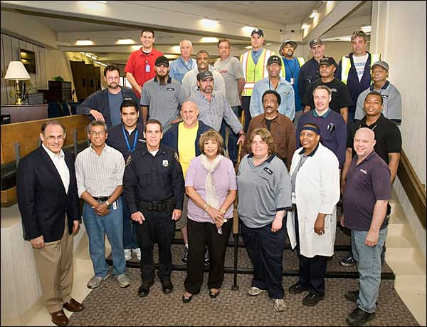 employees who achieved perfect attendance during 2010