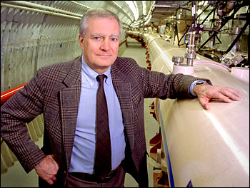 Photo of John Marburger at RHIC
