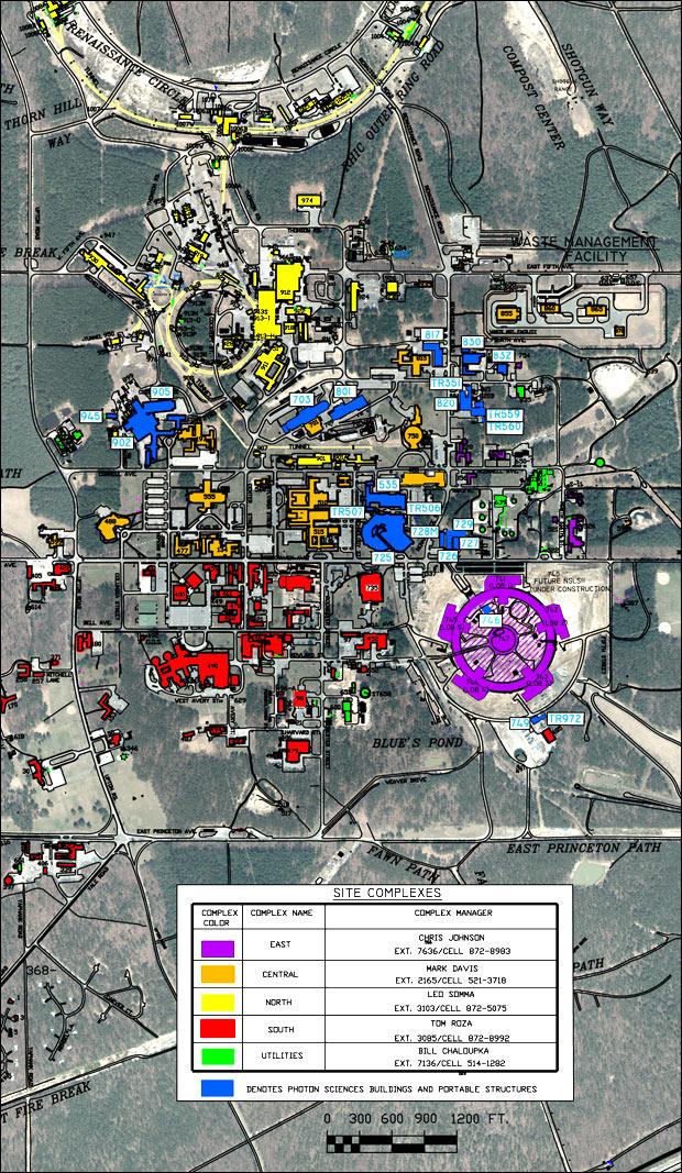Photon Sciences Buildings Map