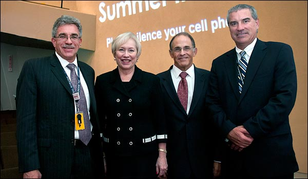 Ken White, Nancy L. Zimpher, Sam Aronson, and Frank Crescenzo