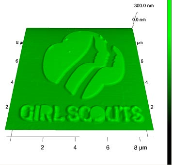 nanoscale image of the Girl Scout logo