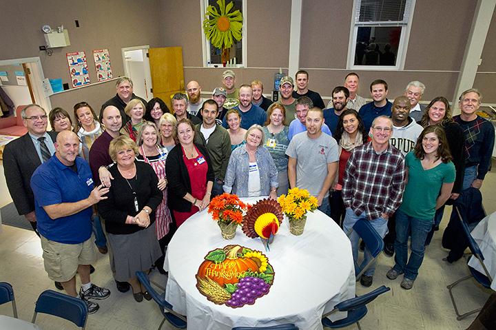 Hurricane Sandy Crews Enjoy Thanksgiving Meal at BNL