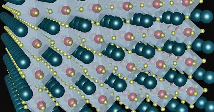 Strontium titanate perovskite lattice
