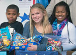 Kids donate Halloween candy